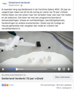 Gelderland Herdenkt social advertising